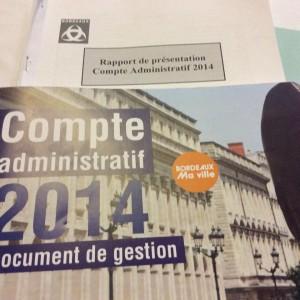 compte administratif de Bordeaux 2014