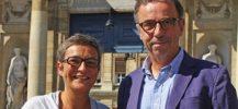 Pierre Hurmic Delphine Jamet élus écologistes au conseil municipal de Bordeaux. Crédit photo Olivier Saint-Faustin Sud-Ouest