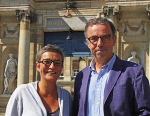 Pierre Hurmic, Delphine Jamet élus écologistes au conseil municipal de Bordeaux. Crédit photo Olivier Saint-Faustin Sud-Ouest