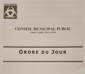 conseil municipal Bordeaux