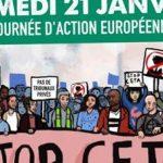 journée d'action européenne contre CETA à Bordeaux