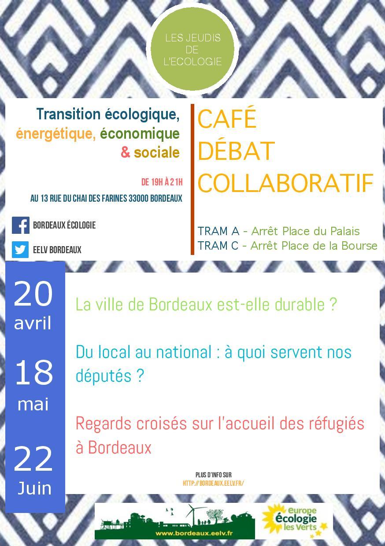 Flyer jeudi ecologie avril mai juin 2017 EELV Bordeaux