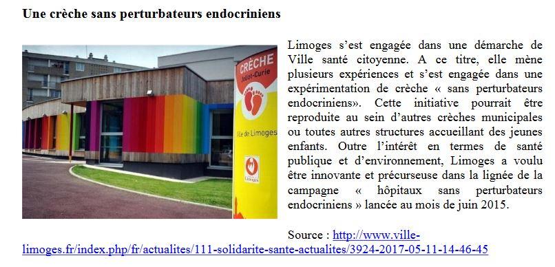 Limoges crèche zéro perturbateur endocrinien