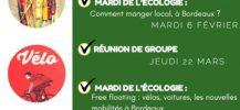 mardis et jeudis de l'écologie 2018 EELV Bordeaux