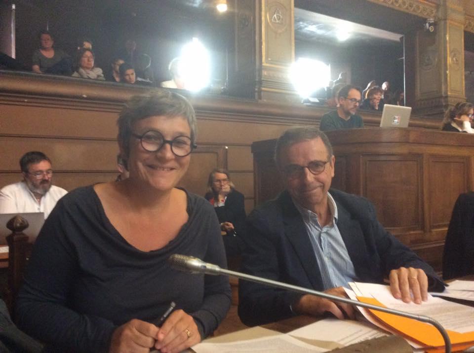 Pierre Hurmic, Delphine Jamet, conseil municipal de Bordeaux
