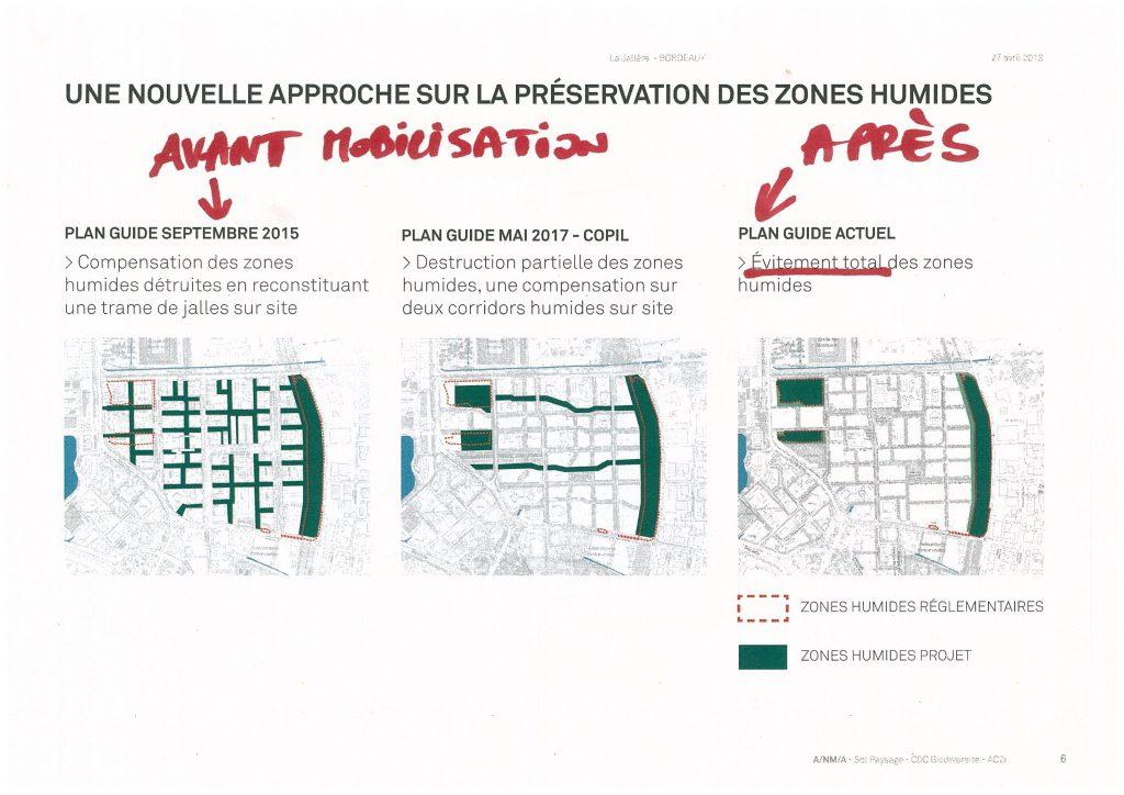 La Jallère avant et après mobilisation pour sauvegarde zones humides