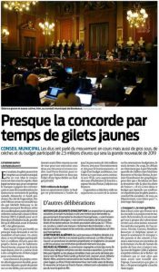 Article Sud Ouest - 18/12/2018